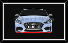Hyundai i30N 3D Pop Art (Framed) A4 - New Gift Idea. HD0017