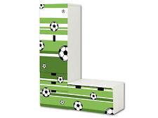 Fußball Aufkleber passend für STUVA Kombi (L-Form) von IKEA - SL10