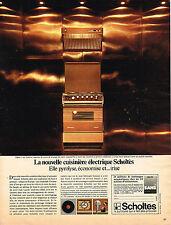 PUBLICITE  1975   SCHOLTES  cuisinière