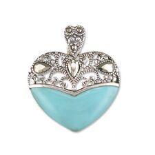 Mercasite turquise heart pendant