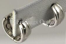 Womens Mens Quality Sterling Silver 925 Italy Ladys Hoop Huggie Earrings Hinged