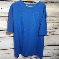 NIKE Indianapolis Colts Mens Size 2XL Short Sleeve Graphic T Shirt Horseshoe NFL