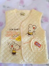 New Boys Kids Girl Child Baby Yellow 100% Cotton Vest Singlet size 3-12m