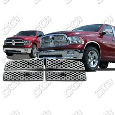 Chrome Grille Overlay FITS 2009-2012 Dodge RAM (ST, SLT, TRX, Sport, LaRamie)