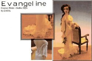 1:12 scale Miniature Doll Art Tutorials/Patterns/Clothes/Hair/+ EVANGELINE BRIDE