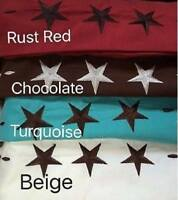 4 Pieces Western Texas Star Design 2200 Egyptian Bed Deep Pocket Sheet Set