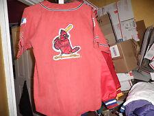 St Louis Cardinals Acid Wash Throwback Baseball Starter Jersey Medium! Rare