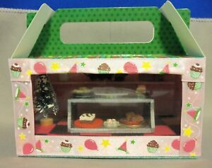 Dollhouse Miniature Bakery Scenario/roombox in a Treat Box
