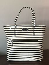 Kate Spade New York Patent Leather Striped Tote, GUC!!!
