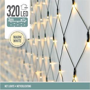 LED-Lichternetz - 320 LED - Warm Weiß - 6m