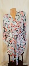 Victoria's Secret Pink Cozy Robe, Bluefloral, M/L, NIP