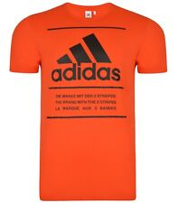 New - Men's Adidas Performance Logo T-Shirt, Top - Orange