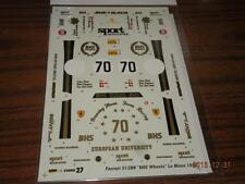 STUDIO 27 1/24 FERRARI 512BB LM 82' BHS WHEEL #DC299 DECAL