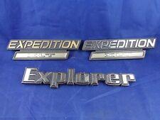 Ford Expedition XLT Door Logo Trunk Emblem, Car, SUV Metal Plastic Lot of 3