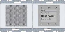 BERKER Radio Touch ARSYS polarweiß glänzend 28800069 up-Radiomodul+Lautsprecher