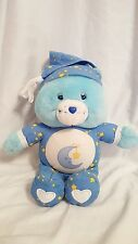 "2002 CARE BEARS 13"" Talking Bedtime Bear Light Up Musical Lullaby"