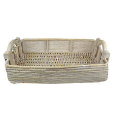 "Sia Basket "" white gekalkt "" Wood Wood basket Storage basket Gift basket Tray"