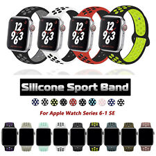 40/44/38/42mm Silicone Sport Band Strap for Apple Watch Series 6 5 4 3 SE iWatch
