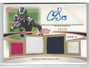 2014 CHRIS GIVENS TOPPS PRIME V AUTOGRAPHED RELICS COPPER RAINBOW #10/10 1/1?