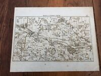 1792 topographical map - part of the great road from london to bath & bristol. 7
