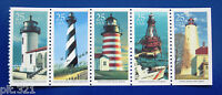 Sc # 2470-2474 ~ Booklet Pane ~ 25 cent Lighthouses Issues (de9)