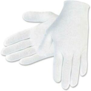 Mcr Safety Cotton Inspectors Gloves - White - Cotton - Breathable, Comfortable,