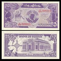 Sudan 25 Piastres 1987 P-37 Camel Unc