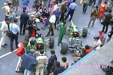 Jim Clark & Graham Hill Lotus F1 Team French Grand Prix 1967 Photograph