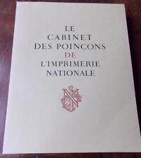 LE CABINET DES POINCONS  IMPRIMERIE NATIONALE  DANIEL GIBELIN