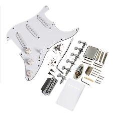 Guitar Loaded Pickguard Bridge knobs Set for Stratocaster Guitar Parts White