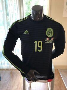 Adidas Mexico National Team El Tri Player Issue Long Sleeve Adizero Jersey Oribe