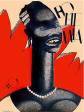 "11x14""Quality CANVAS decor.Home room art.African tribal fashion.6598"