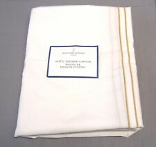 "Williams Sonoma White/Sand Hotel Shower Curtain ""JAD"" Monogram"