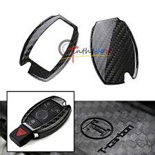 Carbon Fiber Remote Smart Key Fob Holder Cover For Mercedes C E S M GLK Class