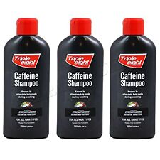 3 x NEW TRIPLE EIGHT CAFFEINE SHAMPOO 250ML PROMOTING THE GROWTH OF HAIR LOSS