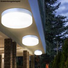 Design LED Deckenleuchte Veranda Außenbeleuchtung Alu Feuchtraum Lampe Glas opal