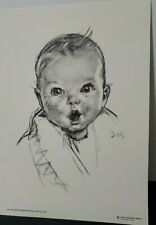 """Vintage Advertising 5"""" x 7"""" Gerber Baby Print/Litho on heavy card stock"""