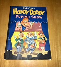 1952 MAKE YOUR OWN HOWDY DOODY MARIONETTE PUPPET SHOW Punch Out Book KAGRAN LOOK