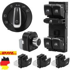 Fensterheber Schalter Lichtschalter Spiegel Set Für VW Golf 5 6 Passat 3C Chrom!