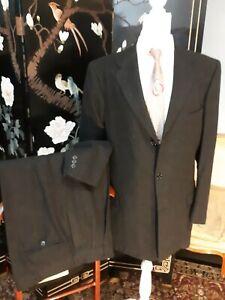 Vintage 1940\u2019s Suit Jacket  Classic 40s 50s Charcoal Grey Wool Jacket  Size Medium