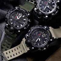 SMAEL Men Military Digital Shock Quartz Watch Dual Time Waterproof Army Sport US