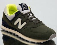 New Balance 574 Sneakers Dark Covert Green Pigment Men Lifestyle Shoes ML574-HVC