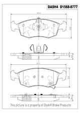 Disc Brake Pad Set-CERAMIC PADS Front Dash 4 Brake CD1568 fits 12-17 Fiat 500