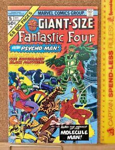 GIANT-SIZE FANTASTIC FOUR #5 1ST SILVER SURFER SOLO 1ST PSYCHO-MAN MARVEL COMICS