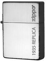 Zippo 1935 Replica Simple Logo Black Nickel Plating Etching Japan Limited Rare