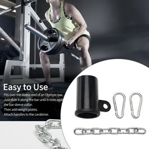 """Metal Weight Lifting T Bar Row Platform Eyelet Attachment for 2"""" Olympic Bar"""