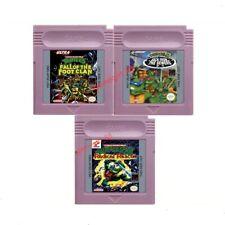 Teenage Mutant Ninja Turtles Series I II III FOR Game Boy GB GBC GBA SP