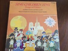Sing Children: Songs Of France Caedmon TC 1600 sealed LP UNICEF