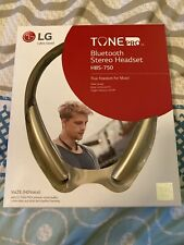 LG Tone Pro HBS-750 Bluetooth Stereo Headset Gold (Brand New)