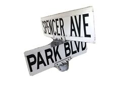 Spencer Avenue Ave and Park Blvd, Wildwood NJ Authentic Vintage Street Sign